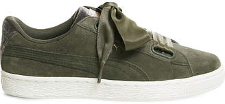 Puma Suede heart velvet rope trainers
