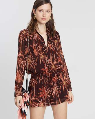 Maison Scotch Sheer LS All-In-One Playsuit
