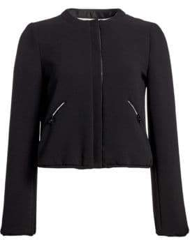 Emporio Armani Tech Crepe Padded Cropped Jacket
