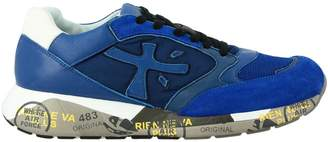 Premiata Sneakers Zac Zac Sneakers In Leather And Nylon Suede With Rubber Sole
