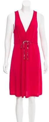 Galliano Sleeveless Knee-Length Dress