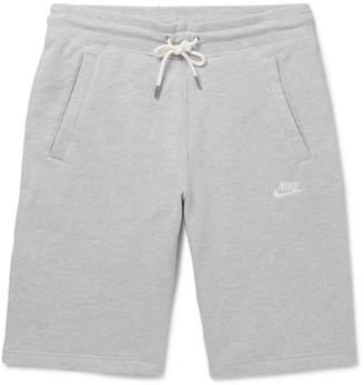Nike Legacy Slim-Fit Mélange Cotton-Jersey Drawstring Shorts