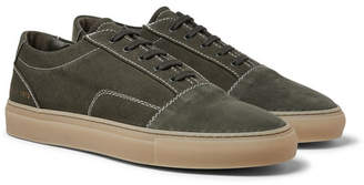 Common Projects Cap-Toe Canvas and Nubuck Sneakers - Green