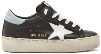 Golden Goose Black Hi Star Sneakers