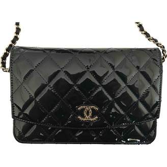 Chanel Wallet on Chain Blue Patent leather Clutch Bag