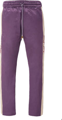 Just Don Tearaway Striped Cotton-Blend Satin Track Pants