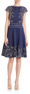 Tadashi Shoji Lace Scuba Dress $448 thestylecure.com