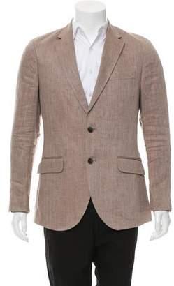 Hackett London Linen Two-Button Blazer