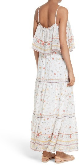 Women's Joie Vernita Popover Bodice Silk Maxi Dress 5