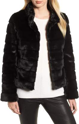 Kristen Blake Faux Fur Quilted Jacket