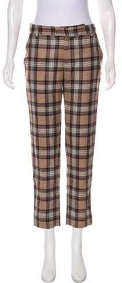 Band Of Outsiders Virgin Wool Plaid Straight Pants