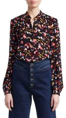 A.L.C. Owens Silk Floral Shirt