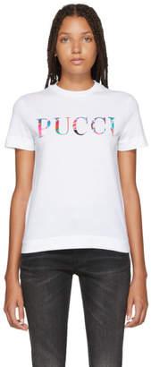 Emilio Pucci (エミリオプッチ) - Emilio Pucci ホワイト ボンデッド ロゴ T シャツ
