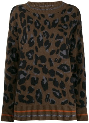Fabiana Filippi oversized leopard jumper