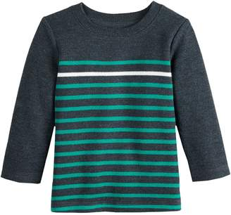 Baby Essentials Baby Boy Jumping Beans Striped Ribbed Top