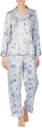 Lauren Ralph Lauren 2-Piece Floral-Print Satin Pyjama Set