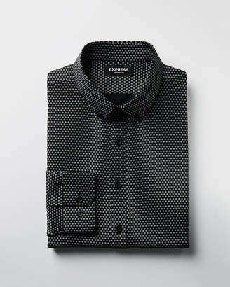 Express Slim Small Dot Wrinkle-Resistant Performance Dress Shirt