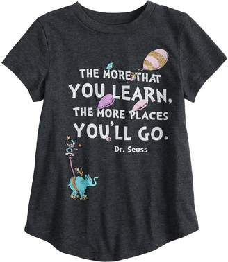 Dr. Seuss Girls 4-10 Jumping Beans Dr. Suess Glittery Graphic Tee