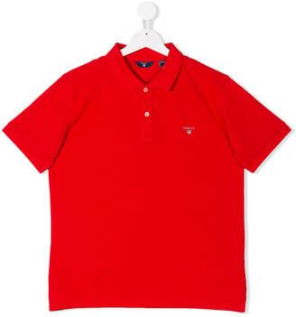 Gant Kids Teen embroidered logo polo shirt