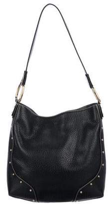 Dolce & Gabbana Stud-Embellished Leather Hobo