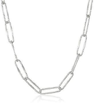 Sterling DC Oval Link Chain Necklace