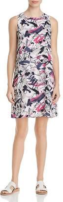 Nic+Zoe Graffiti Femme Sleeveless Shift Dress
