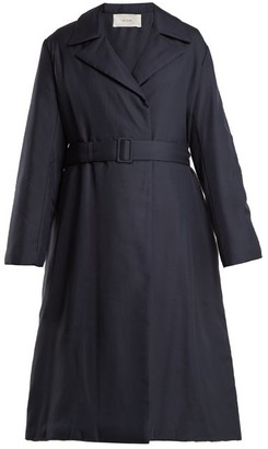 The Row Dundi Long Padded Coat - Womens - Navy