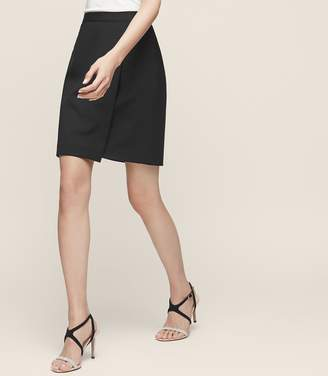 Reiss Huxley Wrap Skirt Tailored Mini Skirt