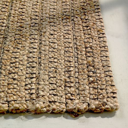 Braided Stripe Jute Rug