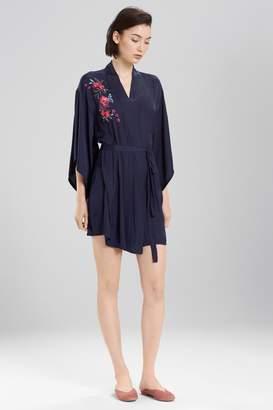 Josie Bardot Satin Boho Embroidery Robe