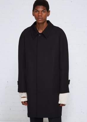 Maison Margiela Wool Cavalry Raglan Sleeve Overcoat