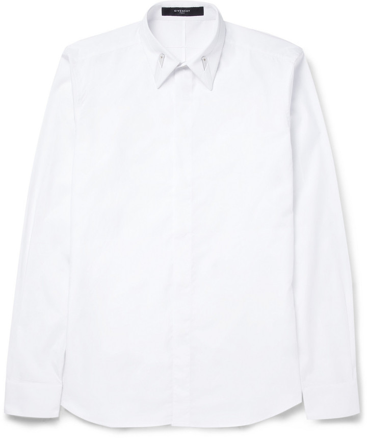 Givenchy - Cotton Shirt With Collar Stay Detail