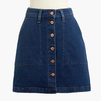 J.Crew Denim button-front mini skirt