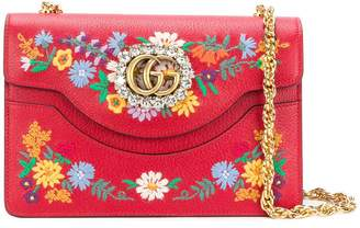 Gucci small Linea Ricami floral embroidered shoulder bag
