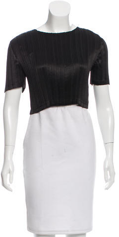 Alexander Wang Alexander Wang Short Sleeve Lace-Accented Top w/ Tags