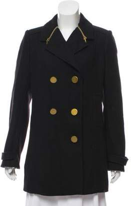 Tory Burch Double-Breasted Wool-Blend Coat