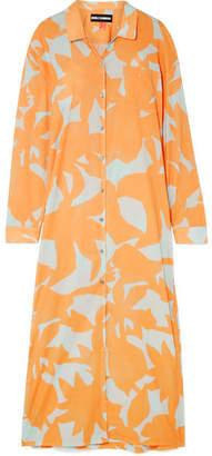 Double Rainbouu - Printed Cotton-voile Maxi Dress - Orange