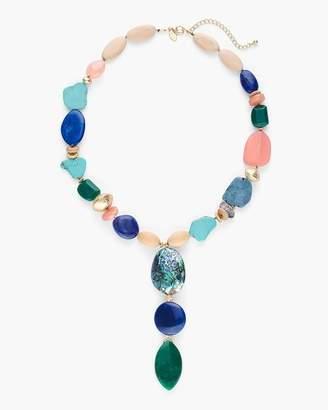 Multi-Colored Single-Strand Stone Necklace