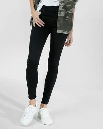 Express Petite Mid Rise Black Jean Leggings