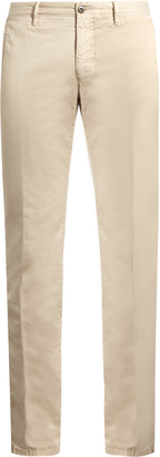Skinny-fit cotton-blend chino trousers