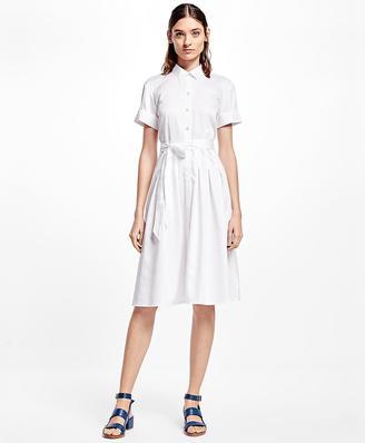 Cotton Sateen Shirt Dress $198 thestylecure.com