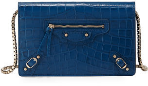 Balenciaga  Balenciaga Classic Crocodile-Embossed Wallet-on-Chain