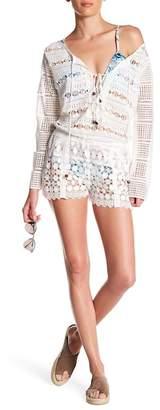 Nicole Miller Long Sleeve Lace Romper