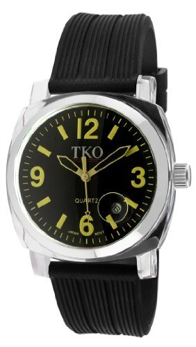 TKO ORLOGI Women's TK549-YB Unisex Milano Remixed Yellow Black Strap Watch
