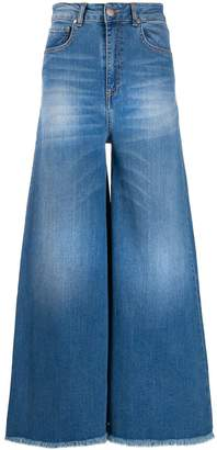 FEDERICA TOSI faded wide-leg jeans