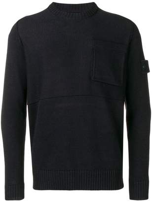 Stone Island knitted chest pocket sweater