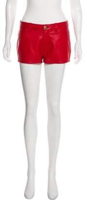 Current/Elliott Leather Mini Shorts