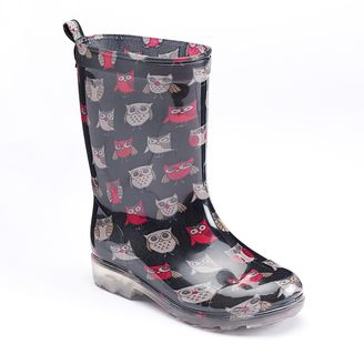 Girls 4-16 Capelli Owl Rain Boots $30 thestylecure.com