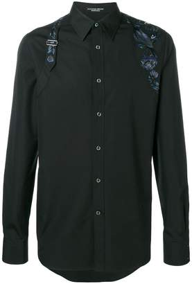 Alexander McQueen Embroidered Harness shirt