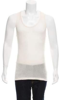 Burberry Cashmere Mesh Sleeveless T-Shirt